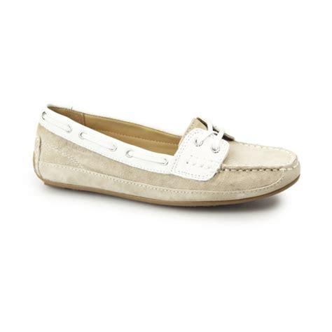 Sebago Bala Boat Shoes Taupe by Sebago Bala Suede Moccasin Boat Shoes Taupe White