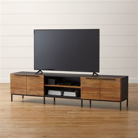 rigby natural  large media console  base