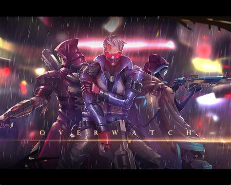 wallpaper ana reaper soldier  overwatch hd games
