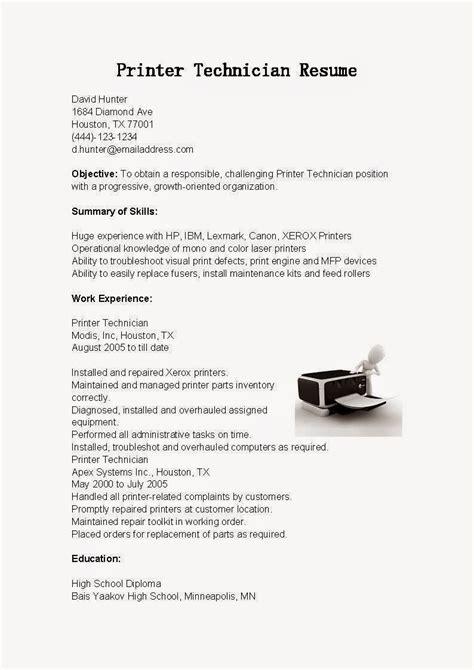 Laser Printer Technician Resume by Laser Printer Repair Cover Letter Country Representative