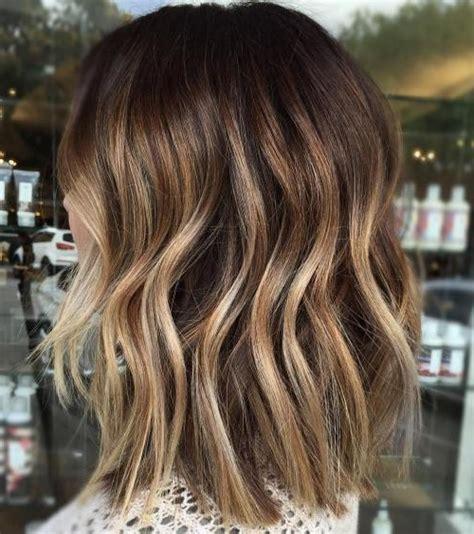 balayage hair color ideas  brunettes   short