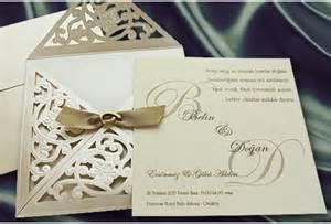 faire parts mariage faire part mariage ivoire et or