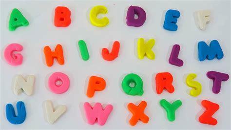 play doh learn the alphabet abc song with play dough