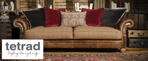 leather and fabric sofa mix tetrad upholstery jefferson sofa leather and fabric mix