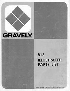 Gravely 816 Parts Catalog For Tractor