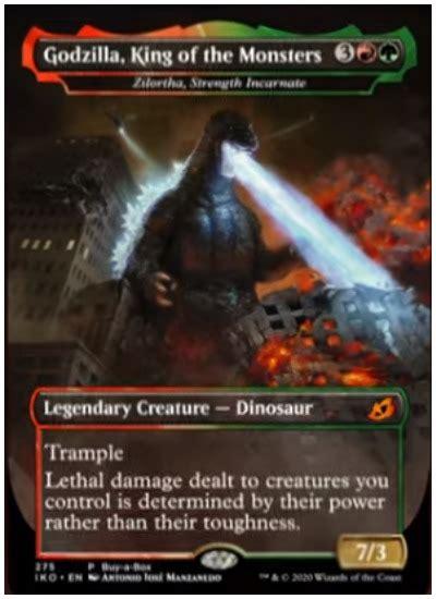 mtg adds godzilla   ikoria lair  behemoths set