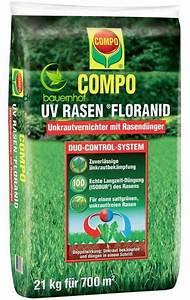 Unkrautvernichter Für Rasen : uv rasen floranid 21 kg von compo rasend nger mit ~ Michelbontemps.com Haus und Dekorationen