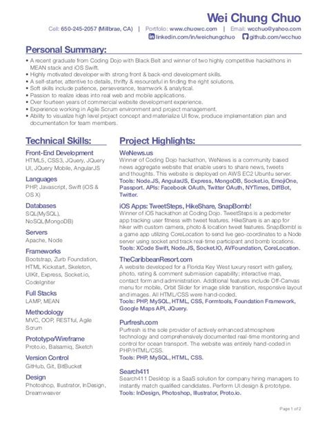Web Developer Summary Resume by Pin By Bretagne Mac Giolla Eoin On Resumes For Artist