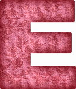 Presentation Alphabets: Pink Flower Fabric Letter E | CARD ...