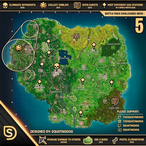 fortnite week 5 challenges week 5 challenges sheet wheel of fortnite