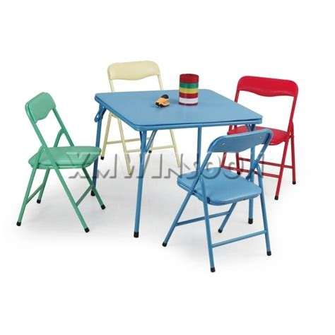 5 steel folding table and chairs set aa5030