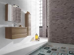 Miroir Salle De Bain Rangement : ensemble meuble salle de bain solco2 80 cm en finition silex avec miroir armoire spot led et ~ Teatrodelosmanantiales.com Idées de Décoration