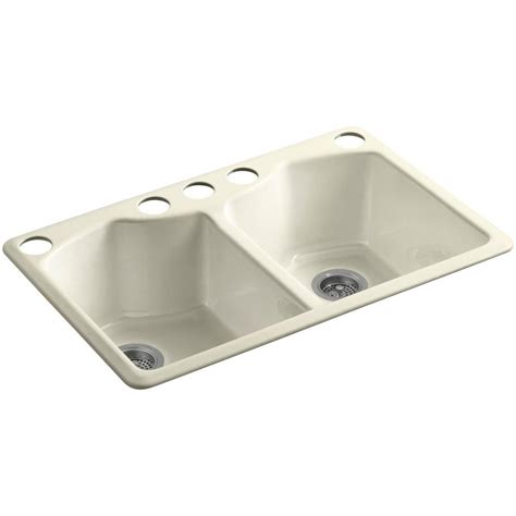 kohler kitchen sink accessories kohler bellegrove undermount cast iron 33 in 5 hole