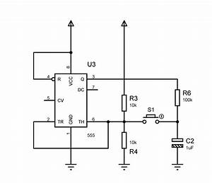 Replacing Push Button By Transistor In 555 Circuit