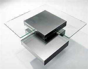 contemporary glass multi level coffee table With two level glass coffee table