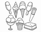 Sandwich Ice Cream Template Coloring Pages sketch template
