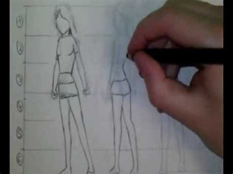 comment dessiner des proportions manga personnage fille