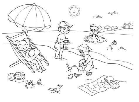 dibujos de verano  imprimir  pintar colorear imagenes