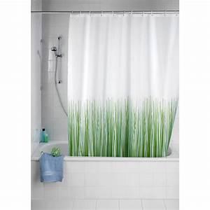 Rideau Salle De Bain : wenko rideau de douche nature vert rideau de douche ~ Dailycaller-alerts.com Idées de Décoration