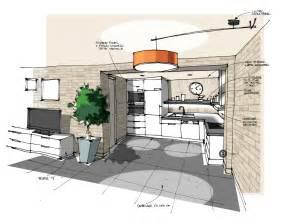 plan cuisine ouverte finest cuisine ouverte sur salon bton cirmur en briques