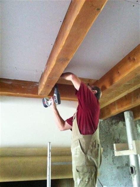 la pose du faux plafond je r 233 nove ma ferme