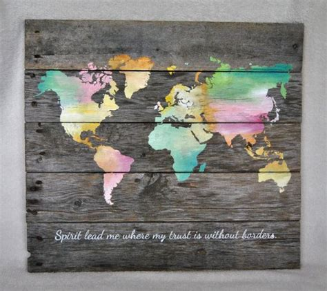 world map spirit lead me where my trust is without