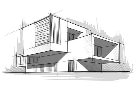 Simple Popular Sketches Simple Architecture House Design