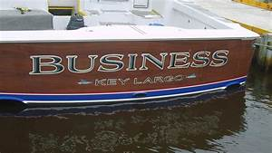 business key largo boat transom boats transom artwork With boat transom lettering
