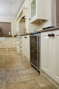 White Kitchen Cabinets with Tile Floor Ideas