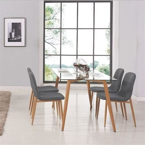 table et chaise salle a manger pas cher table a manger verre et bois achat vente table a manger verre et bois pas cher cdiscount