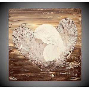 Schlafzimmer Braun Beige : acrylbilder auf leinwand bild f r wohnzimmer oder schlafzimmer engel braun beige kunst malerei ~ Watch28wear.com Haus und Dekorationen