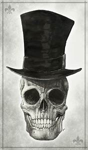 Skull with Top Hat by maskedmayhem on DeviantArt