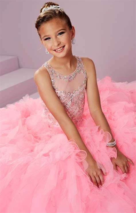 Tiffany Princess 13497 - Halter Beaded Organza Full Tulle ...