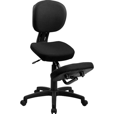 Kneeling Posture Chair by Ergonomic Kneeling Posture Task Chair Black Walmart