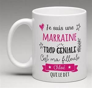Tasse Fete Des Meres : mug personnalis je suis une marraine trop g niale c 39 est ma filleule qui le dit bapt me ~ Teatrodelosmanantiales.com Idées de Décoration