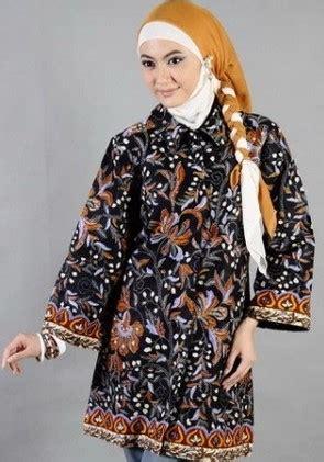 koleksi batik casual hijab  remaja wanita muda