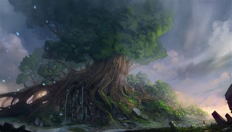 yggdrasil wallpaper  background image  id