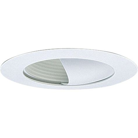 progress lighting 6 in white recessed wall washer trim