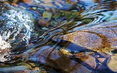 Desktop Clear Stream Water Background Rocks Wallpapers