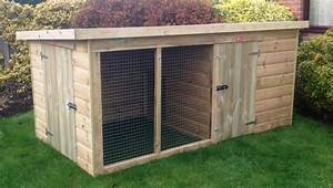 compact traditional kennel run pinelap With small dog kennel and run