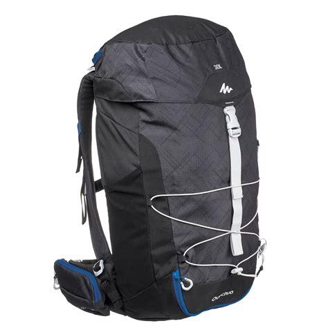 sac  dos de randonnee mh  litres noir quechua