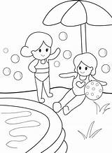 Pool Coloring Swimming Water Safety Magazine Getdrawings sketch template