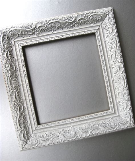 white shabby chic photo frames shabby and chic frame cottage frame white frame vintage by swede13
