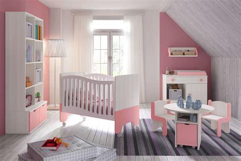 Chambre Bébé Fille Avec Lit Bicouleur Blanc Et Rose