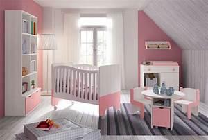 Chambre Bébé Fille : chambre b b fille avec lit bicouleur blanc et rose glicerio so nuit ~ Teatrodelosmanantiales.com Idées de Décoration