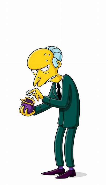 Simpsons Burns Mr Characters Character Montgomery Charles