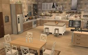Sims 4 deco rustique cuisine kitchen chic moderne for Meuble de cuisine rustique 3 sims 4 deco rustique cuisine kitchen chic moderne