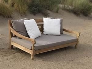Garten Couch Lounge : kawan lounge garten outdoor sofa teak recycled mit kissen ~ Indierocktalk.com Haus und Dekorationen