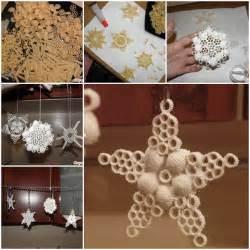 creative ideas diy salt dough snowflake ornaments
