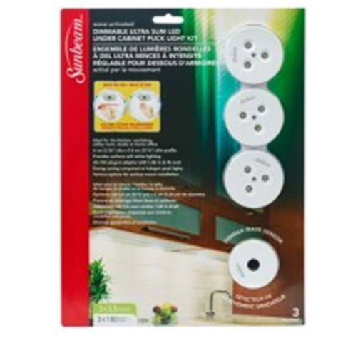 dimmable ultra slim led cabinet puck light wave